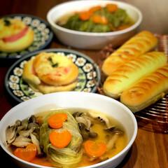 パン作り/おうちパン/フード ハムチーマヨパンとソーセージロールパンを…(1枚目)
