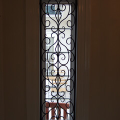ロートアイアン/アイアン/面格子/カバーアート/おしゃれ/窓/... はめ込みタイプの面格子 特注なのでご希望…