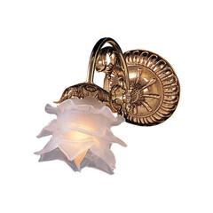 照明器具/ブラケットライト/壁照明/ウォールライト/アンティーク/おしゃれ/... シェードのガラスのデザインがかわいいウォ…