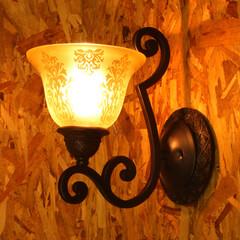 照明器具/輸入照明/壁照明/アンティーク/LED/お洒落/... 「シンフォニー」シリーズのブラケット1灯…