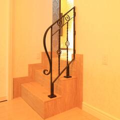ロートアイアン/アイアン/特注/オリジナル/手摺/階段手摺/... こんな数段の階段はありませんか? 大きな…