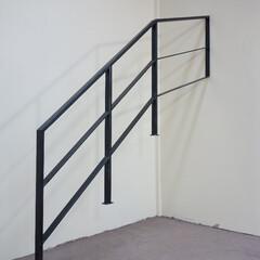 階段/階段フェンス/階段手摺/手すり/アイアン/ロートアイアン/... シンプルでおしゃれな重厚感ある特注ロート…