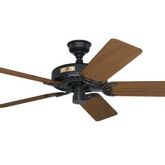 シーリングファン/シーリングファンライト/照明/空調/天井扇/空気/... モーター色:ブラック 羽根色:チークウッ…(1枚目)