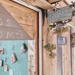 DIYのある暮らし/簡単リメイク/ミルクペイント/子供部屋入り口/暮らしを楽しむ工夫/暮らしのアイディア/... 春らしくイメチェンしました♡  pic2…(1枚目)