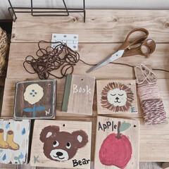暮らしを楽しむ/おうち時間/ミルクペイント/端材DIY/端材リメイク/端材活用/... 子どもたちと楽しく一緒に描いた絵 ✐☡ …