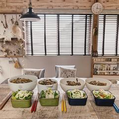 ダイニング/ウッドブラインド/暮らしを楽しむ/家族時間/お昼ごはん/おうち時間を楽しく/... 今日のお昼ご飯は、牛丼でしたー𓎩 ˒˒…