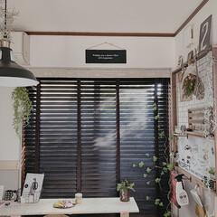 DIY/インテリア/住まい/ハンドメイド/暮らしを楽しむ/DIY女子/... 窓際に作ったお気に入りのCAFEスペース…