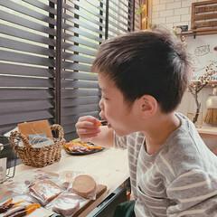 カフェタイム/暮らしを楽しむ/カフェ風インテリア/グルメ/フード/スイーツ/... 食いしん坊の息子がパクパクw  一番のお…