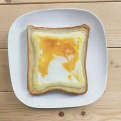 暮らしを楽しむ/朝ごはん/食パンアレンジ/食パン/おうち時間/暮らし/... こんな時間に🍞  少し前の朝ごはんです♡…