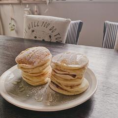 おやつ時間/パンケーキ/ホットケーキ/日々の暮らし/暮らしを楽しむ/おうち時間/... 今日のおやつ🥞  子どもたちと一緒にパン…