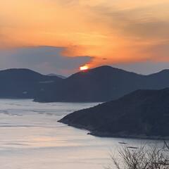 夕日/日の入り/暮らしを楽しむ/旅の思い出/旅行/風景/... 日の入り〜ッˊ°̮ˋ✨✨✨  贅沢な時間…