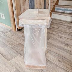 おうちのこと/日々の暮らし/DIYのある暮らし/DIY女子/ナチュラル/暮らしを楽しむ/... おうちにある端材で作ったシンプルなゴミ箱…