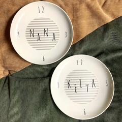 ハンドメイド/雑貨/お皿/ポーセラーツ/手作り/暮らしを楽しむ 子供たち用に、ポーセラーツ教室でお皿を作…
