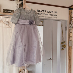 春/ドレス/暮らしを楽しむ/インテリア/住まい/春の一枚 娘のピアノの発表会のドレス♡  春らしい…