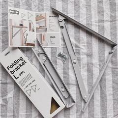 折りたたみ式/folding bracket/DIYのある暮らし/暮らしを楽しむ/DIY/住まい/... 折りたたみ式の棚受け♡  取り付けるだけ…