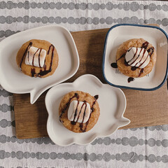 カフェタイム/チョコシロップ/日々の暮らし/暮らしを楽しむ/おやつ時間/おやつタイム/... 今日のおやつは、 サクサクマシュマロのせ…