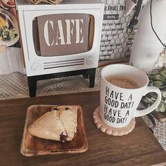 セリアリメイク/カフェトレイ/おうちカフェ/手作り/暮らしを楽しむ/リメイク雑貨/... おうちカフェタイムの時に使っているトレイ…
