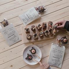 ダイニングテーブルDIY/ダイソー/暮らしの記録/こどものいる暮らし/記念/暮らしを楽しむ/... Valentineに作った  チョコパイ…(1枚目)