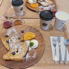カフェタイム/カフェ巡り/おやつタイム/LIMIAスイーツ愛好会/LIMIAおでかけ部/暮らし/... お友達とカフェめぐり♪  デニッシュパン…