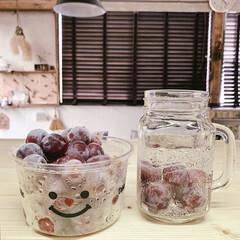 おうち/ジュース/カフェタイム/お気に入り/日々の暮らし/暮らしを楽しむ/... 皮ごと食べられるぶどう、レッドグローブを…