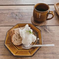 素敵な時間/カフェ雑貨/カフェタイム/手づくりケーキ/カフェ時間/暮らしを楽しむ/... お友達が誕生日のお祝いに作ってくれたケー…