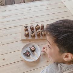 ダイニングテーブルDIY/ダイソー/暮らしの記録/こどものいる暮らし/記念/暮らしを楽しむ/... Valentineに作った  チョコパイ…(4枚目)