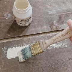 リメイク/楽しい時間/おうち時間/ミルクペイント/DIYのある暮らし/暮らしを楽しむ/... なにができるかな〜♫  なるべく新しい材…