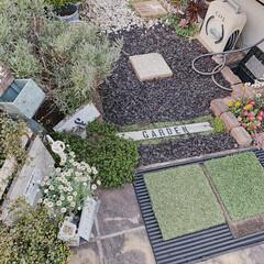 DIYのある暮らし/暮らしを楽しむ/小さなお庭/ガーデニング/ミルクペイント/お花のある暮らし/... ここも、お庭と言うより通路スペース。  …