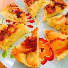 サツマイモ/林檎/ケーキ さつまいもと林檎のパンケーキ🍎  さつま…(1枚目)