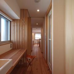 リノベーション/マンションリノベーション/リフォーム/マンションリフォーム/マンション/木/... ■洗面空間は窓のある位置に再構築■  水…