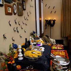 ハロウィンパーティ/飾り付け/食事 ハロウィンパーティしました! 皆んな楽し…