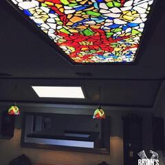 廊下/DIY/ステンドグラス PCからだと写真が一枚づつしか投稿できな…(1枚目)