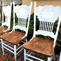 アニースローン/リメイク/アンティーク/椅子/チョークペイント かなり安く手に入れたアンティークな椅子を…