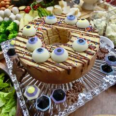 ハロウィン/パーティ/目玉チョコ/バームクーヘン/100均/製氷皿/... 子供たちのハロウィンパーティ!  市販の…