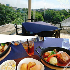 lunch/フード lunchです😊 お天気もよく眺めいい~…