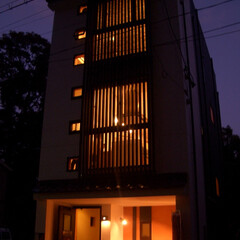 注文住宅/町屋/和/格子/庇/モデルハウス/... 福岡市博多区御供所町にある「博多町家ロジ…