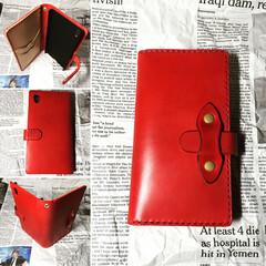 スマホケース/レザー/革/栃木レザー/ハンドメイド/手縫い Xperia case 栃木レザーを使用
