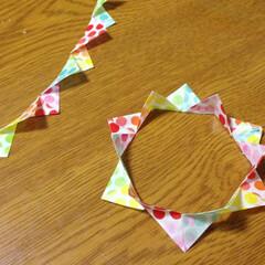 マステ/マスキングテープ マステを折って飾りや模様に変身♪