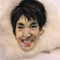 似顔絵/刺繍/羊毛フェルト刺繍/羊毛フェルト 羊毛フェルト刺繍の似顔絵です。 お世話に…(1枚目)