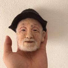 似顔/顔/手作り/羊毛フェルト/ハンドメイド 羊毛フェルトで作ったおじいさん。 先生と…(2枚目)