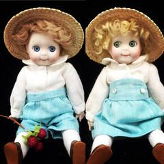 磁器人形/ビスクドール/アンティークドール/ポーセリアンドール/球体関節人形 プチグーグリー  ドイツのアンティークド…