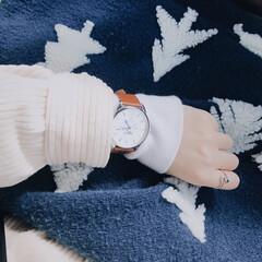 春コーデ/休日/ランチ/腕時計/lobor/コーディネート/... 最近お気に入りで 毎日付けてるLOBOR…