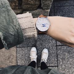 スニーカー/コンバース/ロバー/おでかけ/今日のコーデ/お気に入り/... 最近よく付けてる お気に入りの時計⌚ 色…