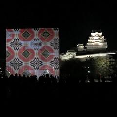 光のアート/デザイン/プライベート/休日/ライトアップ/姫路城/... 先日、姫路城のライトアップを 母と見に行…