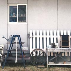 Before/車輪/ナチュラルガーデン/植物/模様替え/古道具/... 我が家の庭🌲 この場所を久しぶりにDIY…