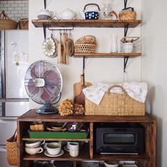 うつわ/レトロ/カゴ/暮らし/飾り棚/食器棚/... お気に入りの 飾り棚&食器棚コーナー(^…(1枚目)