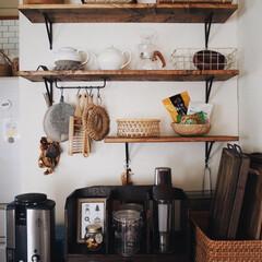 賃貸/LABRICO/ラブリコ/レトロ/カゴ/キッチン雑貨/... 我が家のお気に入りの飾り棚☺︎☺︎ 微妙…