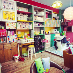 美容院/店舗デザイン広島/塗装/paint/DIY/かわいいお店/... 最近開業した自分の美容院PORTACAR…