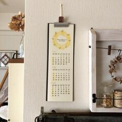 インテリア/古道具/マガジンラック/飾り棚/手作りカレンダー/クリアスタンプ/... 2020年のカレンダー。 ワークショップ…(2枚目)