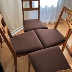 アイデア投稿中/椅子座面張り替え/ダイニングチェア/DIY 結婚してからかれこれ18年ぐらい使ってい…